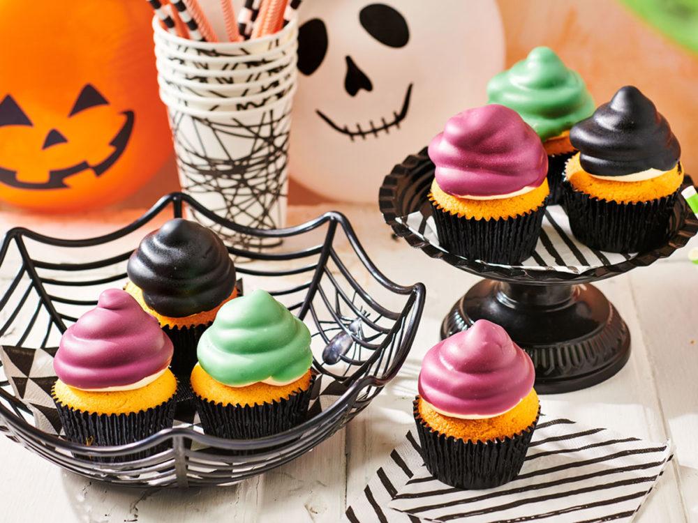 Halloween Deco Melts Dip cupcakes