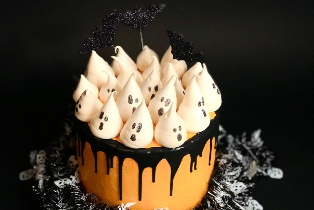 Halloweentaart met spookjes