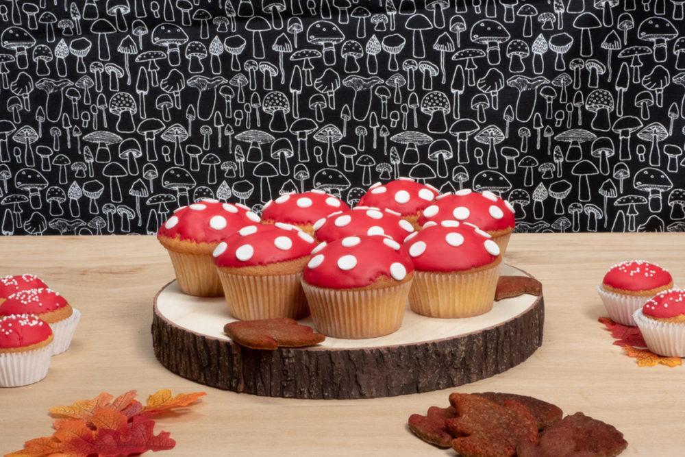 Paddenstoel cupcakes