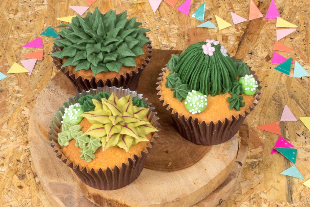 Vetplantjes cupcakes