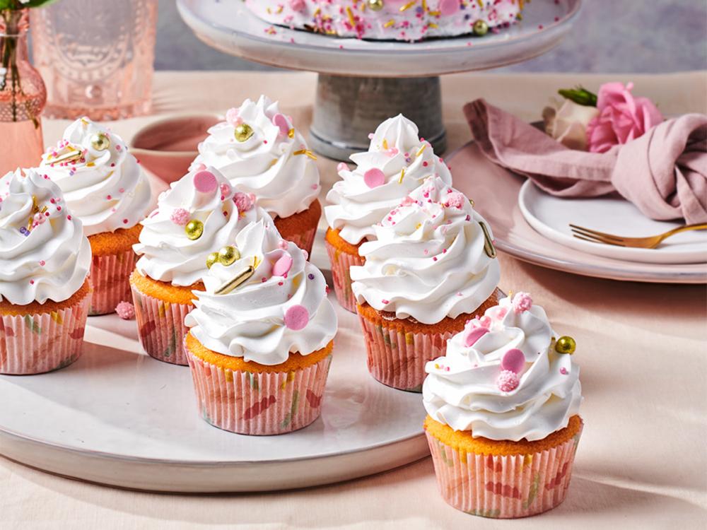 Cupcakes met lemon meringue Enchanted Cream®