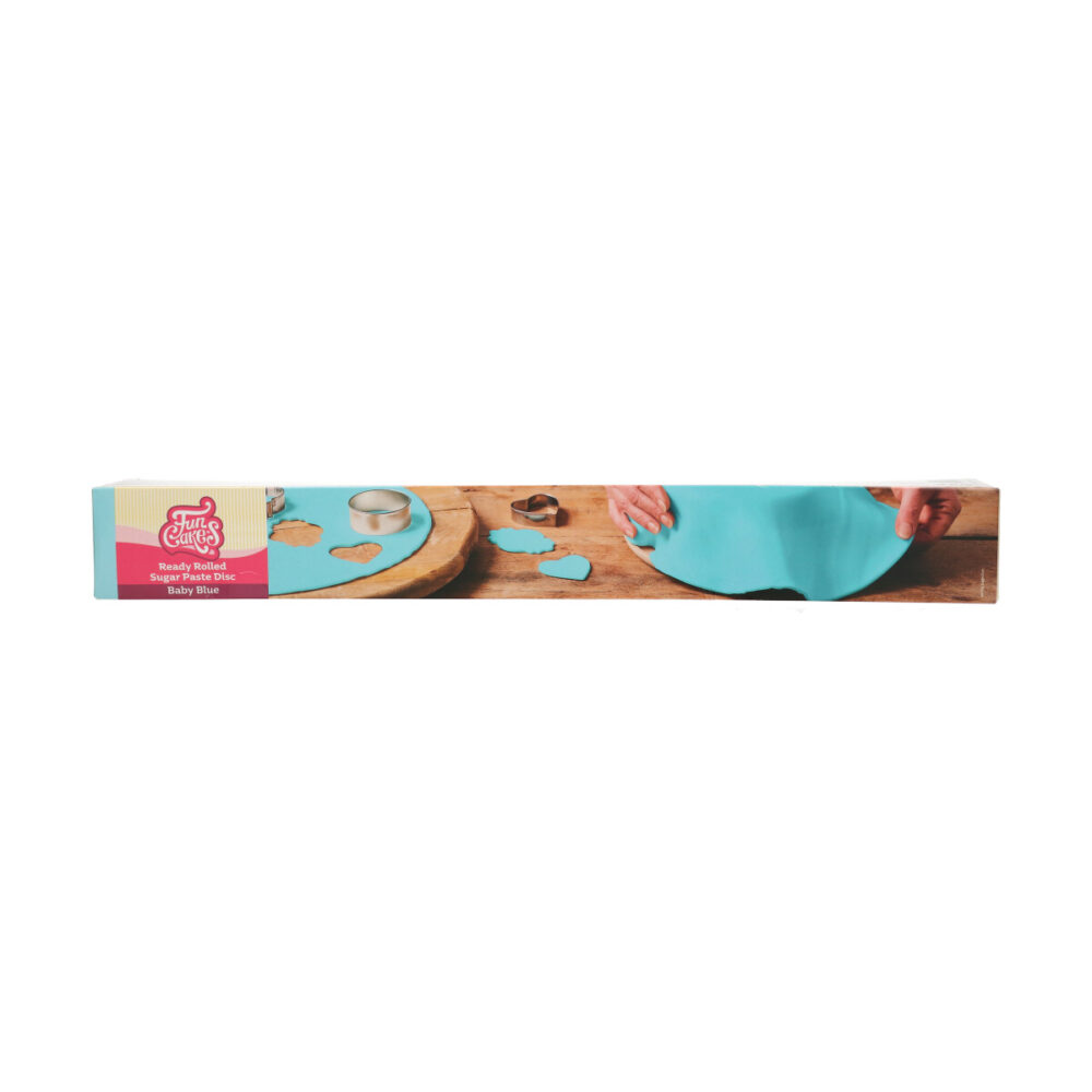 Ready Rolled Fondant Disc Baby Blue