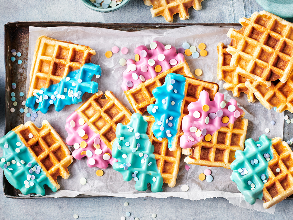 Waffles with Deco Melts and confetti