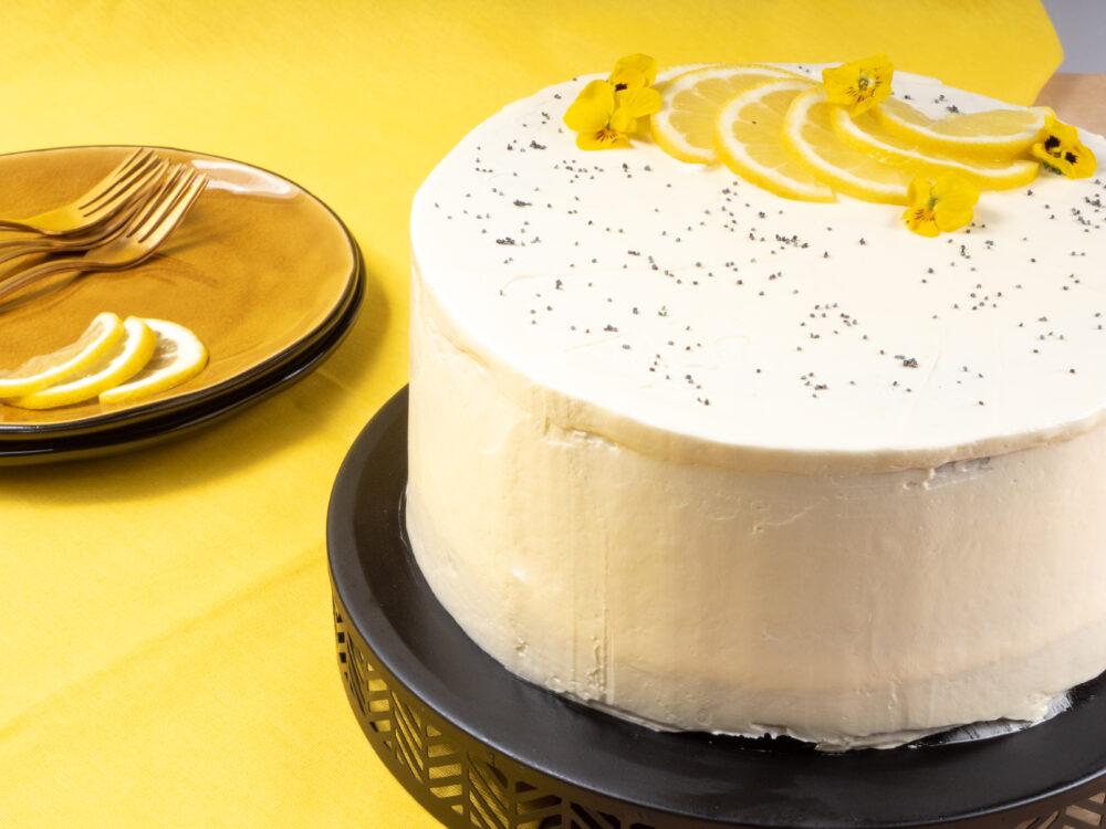 Lemon Meringue Poppy Seed cake