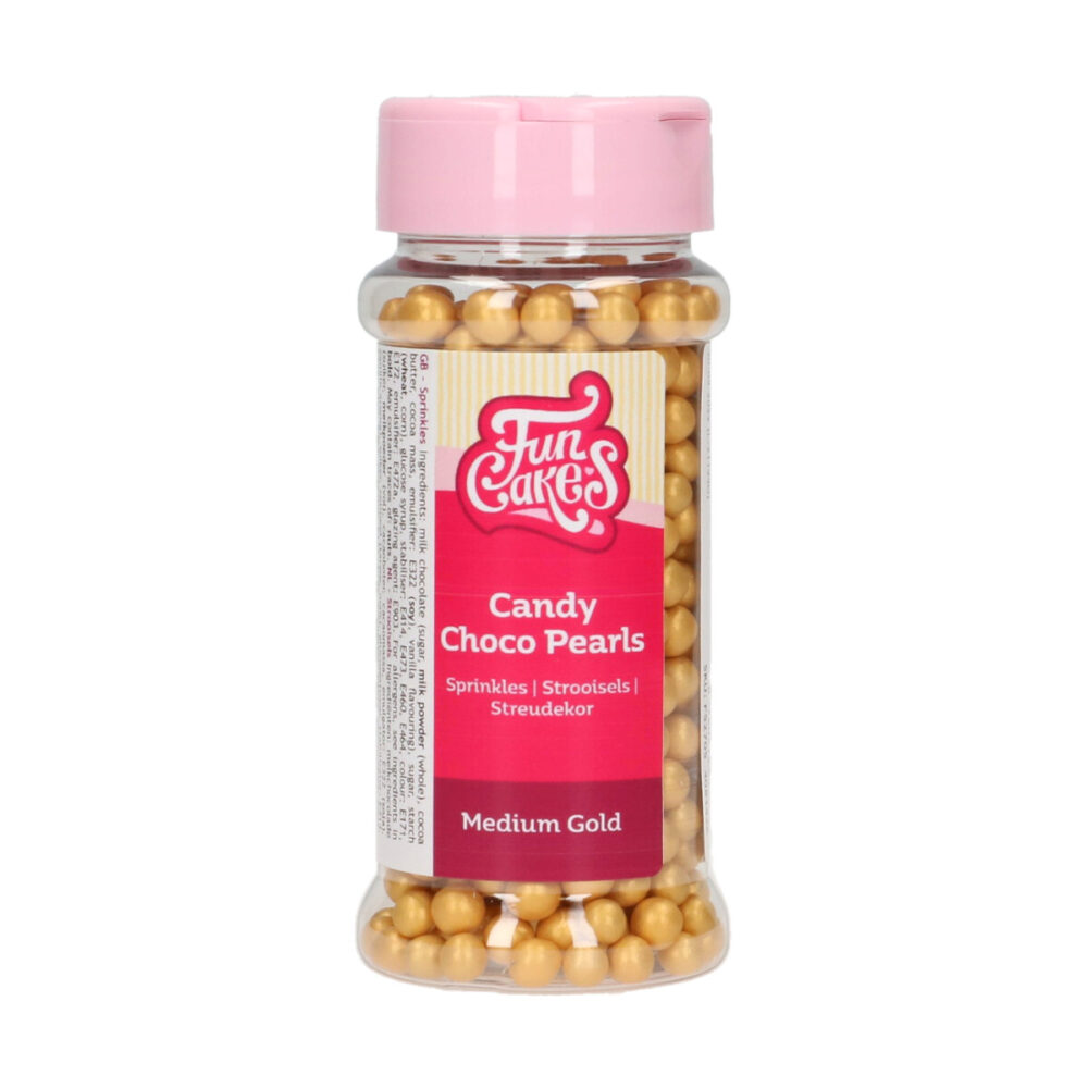 Candy Choco Pearls Medium Gold
