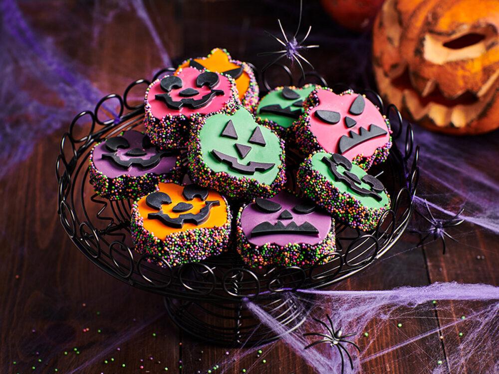 Halloween pompoen hoofdjes